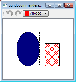 QUndoCommand example at the start